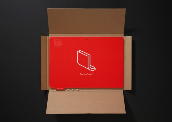 Corporate identity design, box open